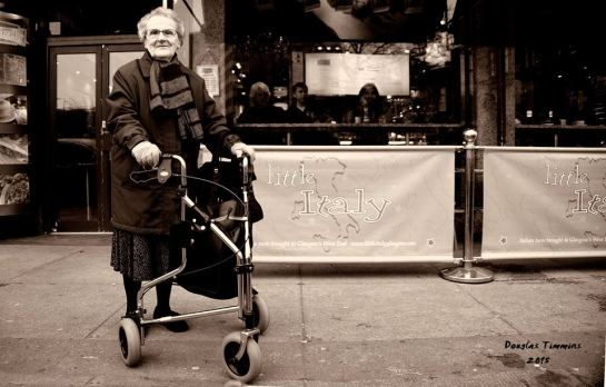 Meet the lovely Violet who at 91 years of age still travels the mean streets of Glasgow every day.