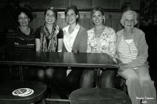 Three generations of American family in Oran Mor Glasgow