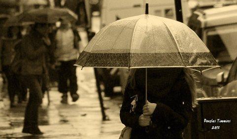 Umbrella Girl..Glasgow today